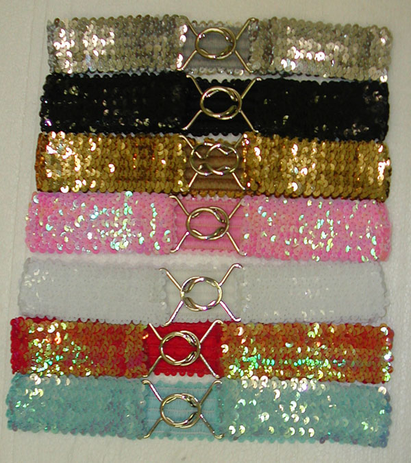 BS23129 Sequin Stretch Belt- 240/case