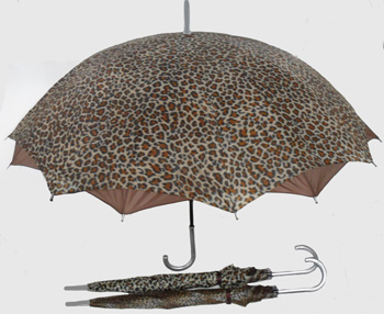 BS23175-3B Leopard Print Double Umbrella-60/case
