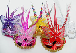 BS23194-8 Butterfly Sequin Mask-300/case