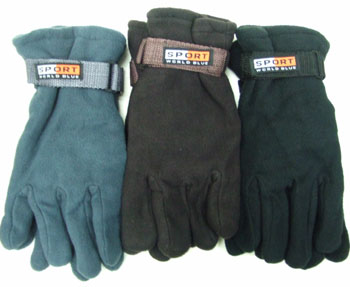 BS23221  Men Fleece Gloves-12dz./ case