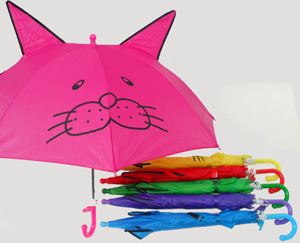 BS23236-3 Kid's Assorted Umbrella w/ Pointed Ears-120/case