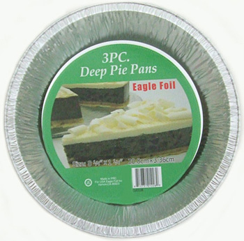 CUD228 3pc Deep Pie Pan- 50/case