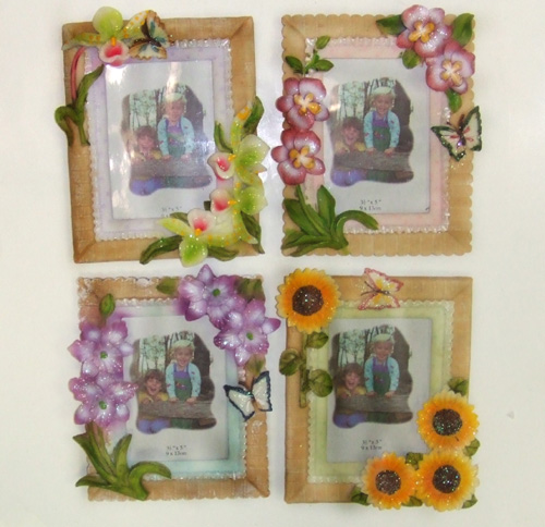 "DL23305-1 3.5""X5"" Floral Picture Frame- 72/case"