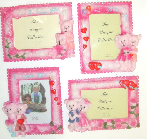 "DL23305-3 3.5""x5"" Loving Bears Picture Frame- 72/case"