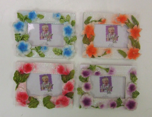 "DL23306-2 3""x2"" Floral Picture Frame- 100/case"