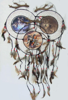"DL23377 13"" Picture Dream Catcher 24/case"