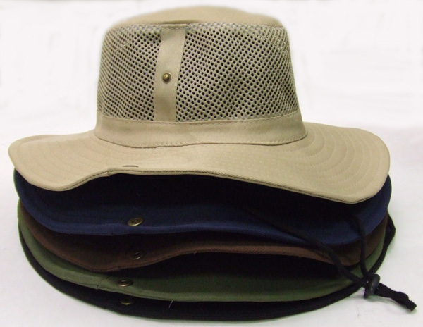 HW23015-4 Mesh Snap Sides Hat- 120/case