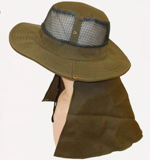 HW23480-2 Mesh Hat w. Flap-120/case