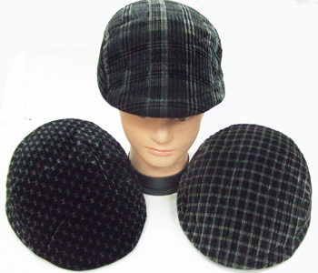 HW23513 Plaid Ivy Mens Cap 12doz/case