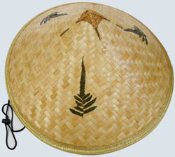 HW23588 Pointed Bamboo Hat-120/case