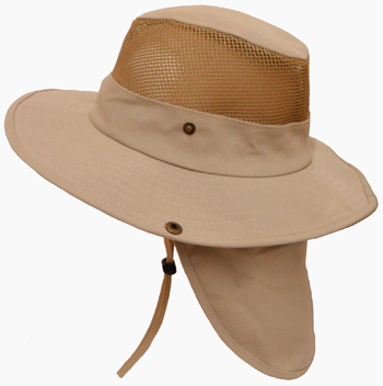 HW23690-1 Cotton Mesh Hat w/ Back Flap-120/case