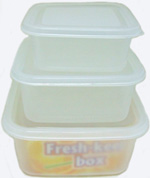 KH23109 3pc Square Containers- 84/case