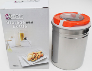 KH23180-2 13.5cm Stainless Steel Container-48/case
