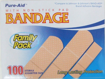 KW0021T 100 Assorted Bandages- 48/case