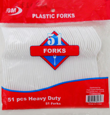 MI30275 51pc. Plastic Forks-48/case