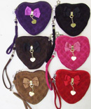 OF23373-5 Velvet Heart Shaped Purse- 144/case