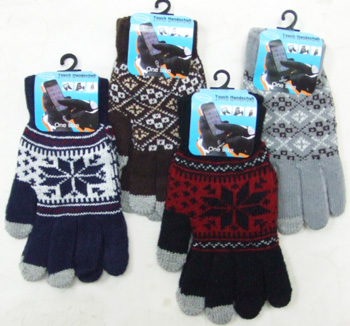 OF23408-1 Men's Touch Screen Gloves-Pattern 20 Dz./case