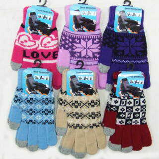 OF23408-2 Ladies' Touch Screen Gloves-Pattern 20 Dz./case