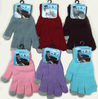 OF23409-2  Ladies' Plain Touch Screen Gloves-Plain 20/case