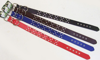 PS23111-1 Dog Collar w. Double Spike- 120/case