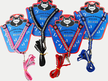 PS23234 1.5cm Dog Harness & LeashCollar (Reflective)-96/case