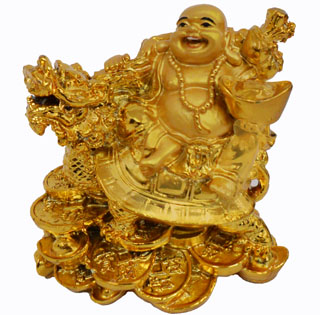 ST23584  Golden Budhha on Dragon Turtle-36/case