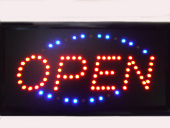 TL23150 Motion Light Open Sign- 20/case