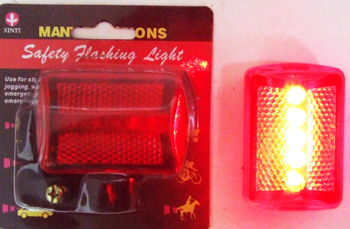 TL23165-1 Small Light up Bike Reflector 144/case