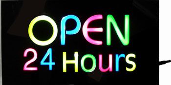 TL23254 LED Open 24 Hours Sign-20/case