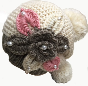 WA23027 Crochet Ladies' Hat w. Pom Pom-20 DZ. /case
