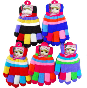 WA23064 Colorful Kids' Gloves-20 Dz. /case