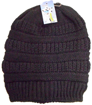 WA23112-1B Knit Ski Hat-Fleece Lining-12 Dz./case